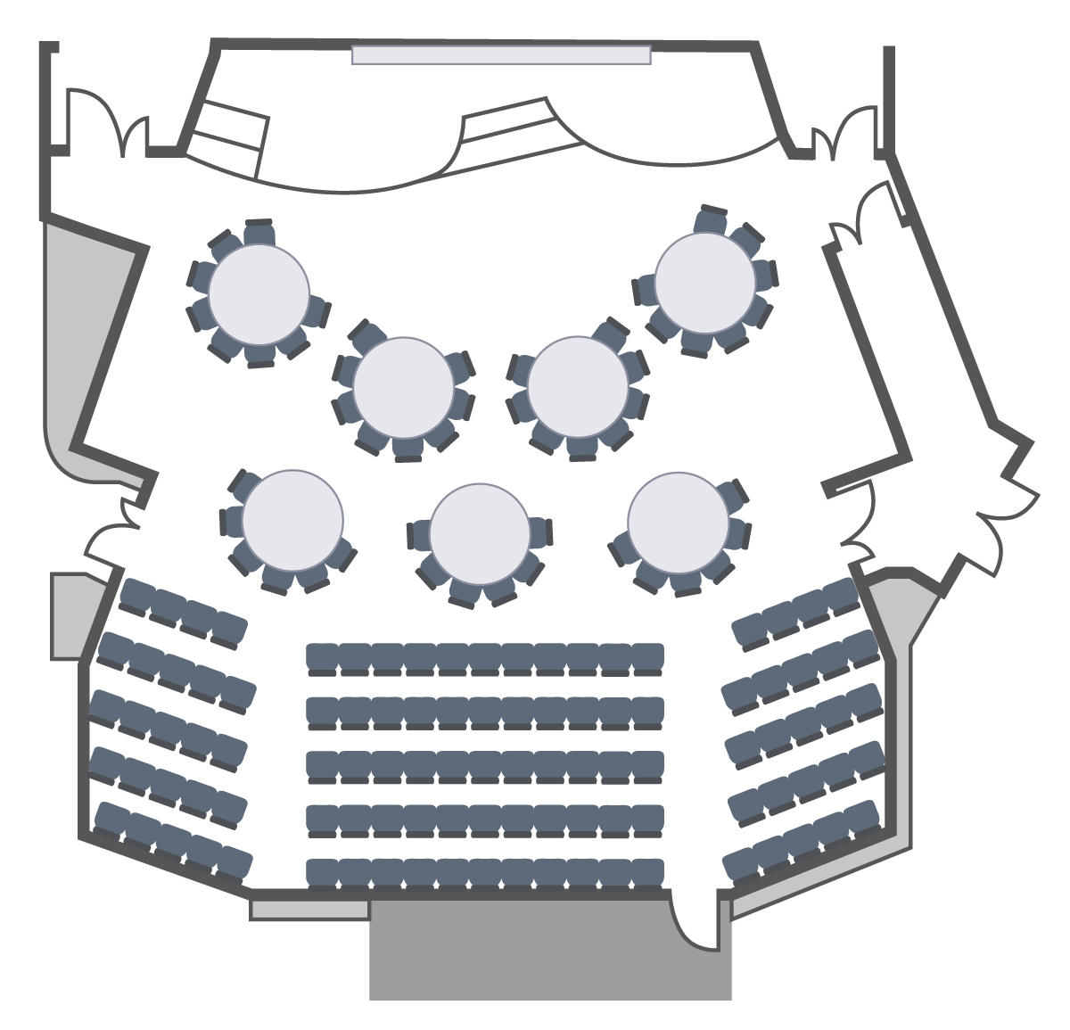 Squire theatre layout for event