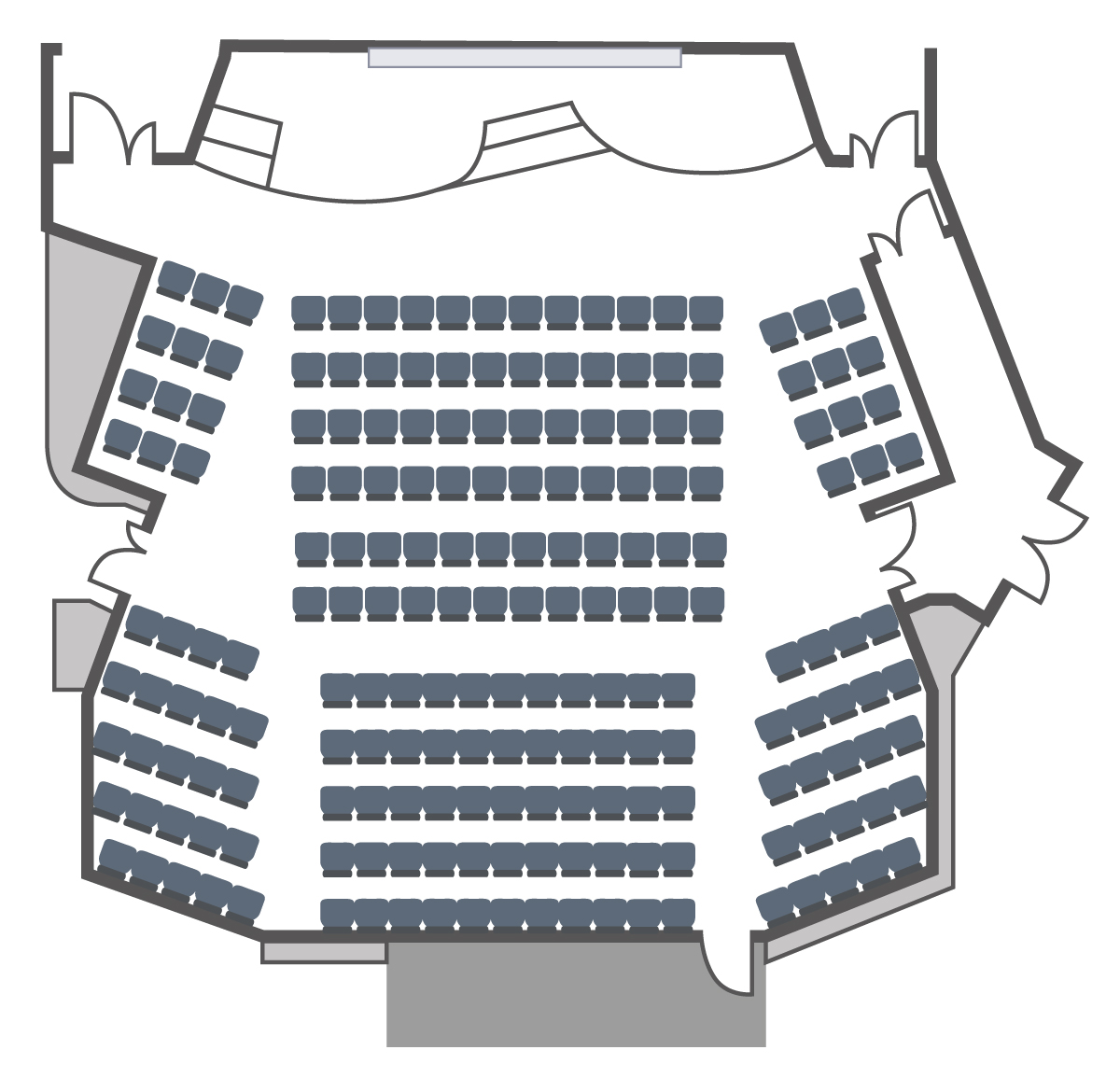 Squire theatre layout for presentation
