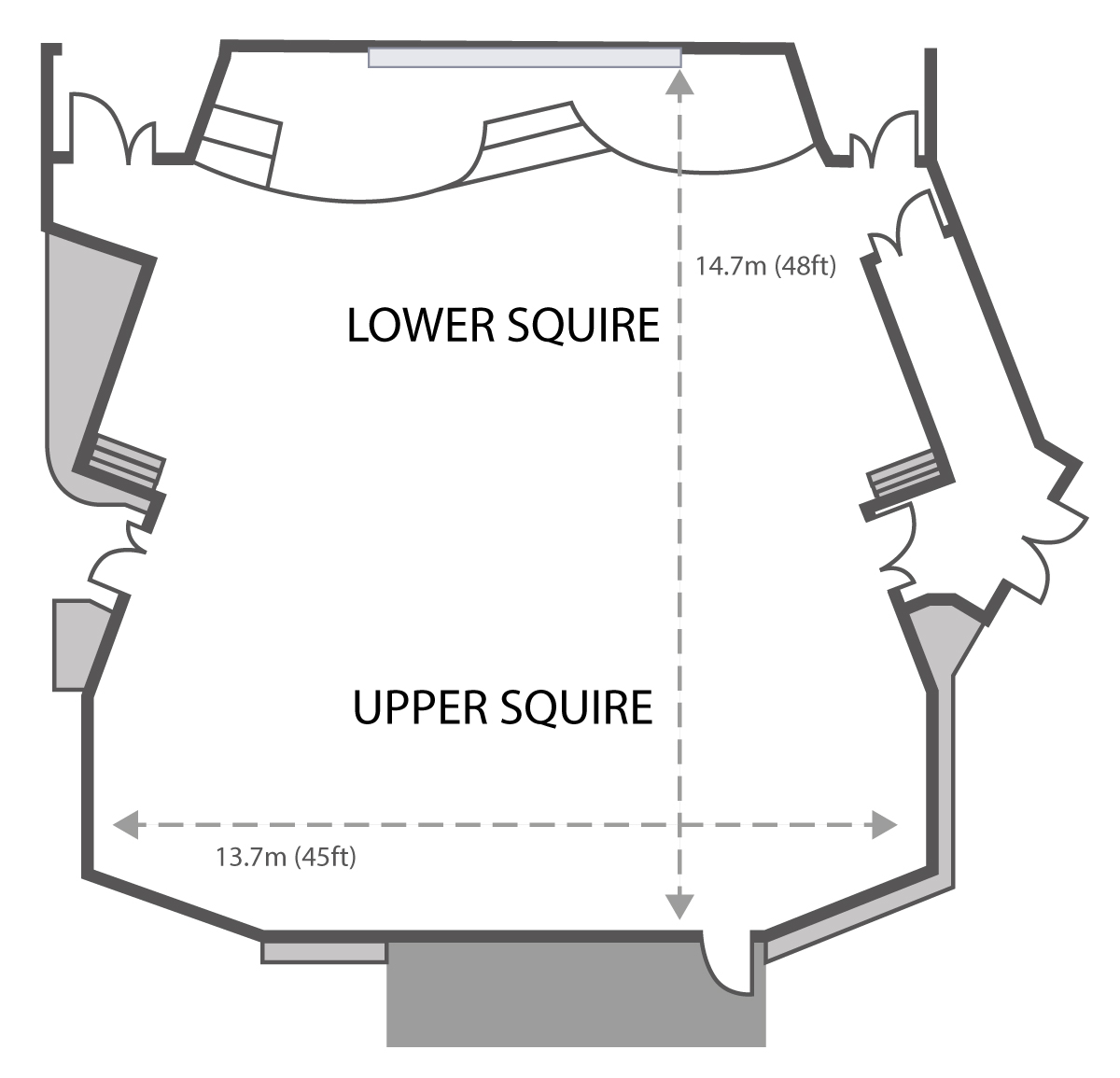 Squire theatre layout for lecture