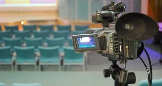 Camera in the Squire Lecture Theatre at The Ark Conference Centre Basingstoke Hampshire