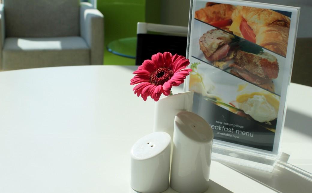 BCB Table Salt Pepper Menu Flower at The Ark Conference Centre Basingstoke Hampshire