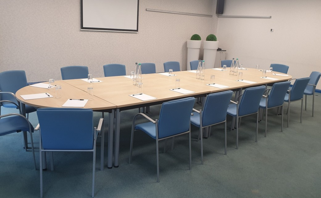 Caspian Room in Boardroom Layout at The Ark Conference Centre Basingstoke Hampshire