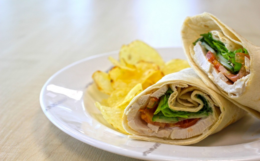 Wrap from our blue cafe bar at the ark basingstoke