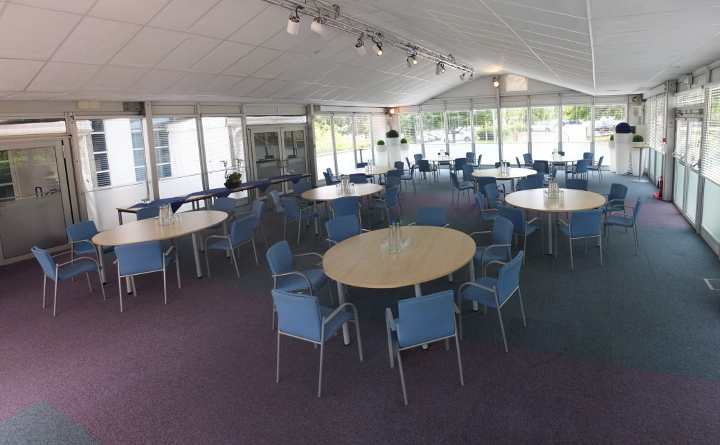 Pavilion Room in Cabaret Setup at The Ark Conference Centre in Basingstoke