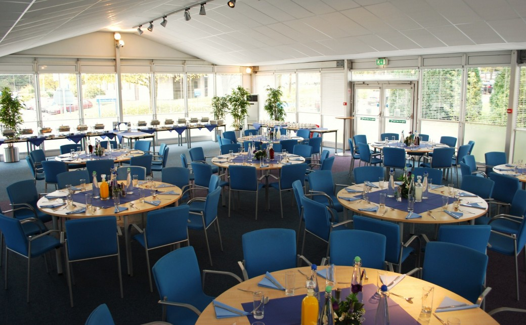 Pavilion Room in Dining Layout at The Ark Centre in Basingstoke