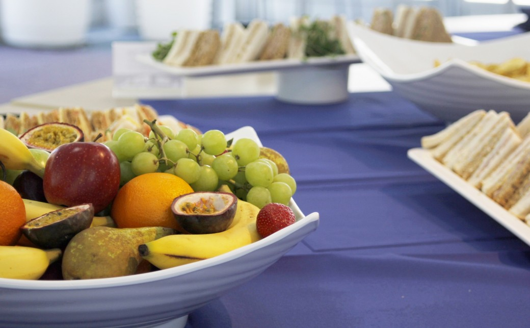 Sandwiches and Fruit Bowl Platter Conference Catering at The Ark Conference Centre Basingstoke Hampshire